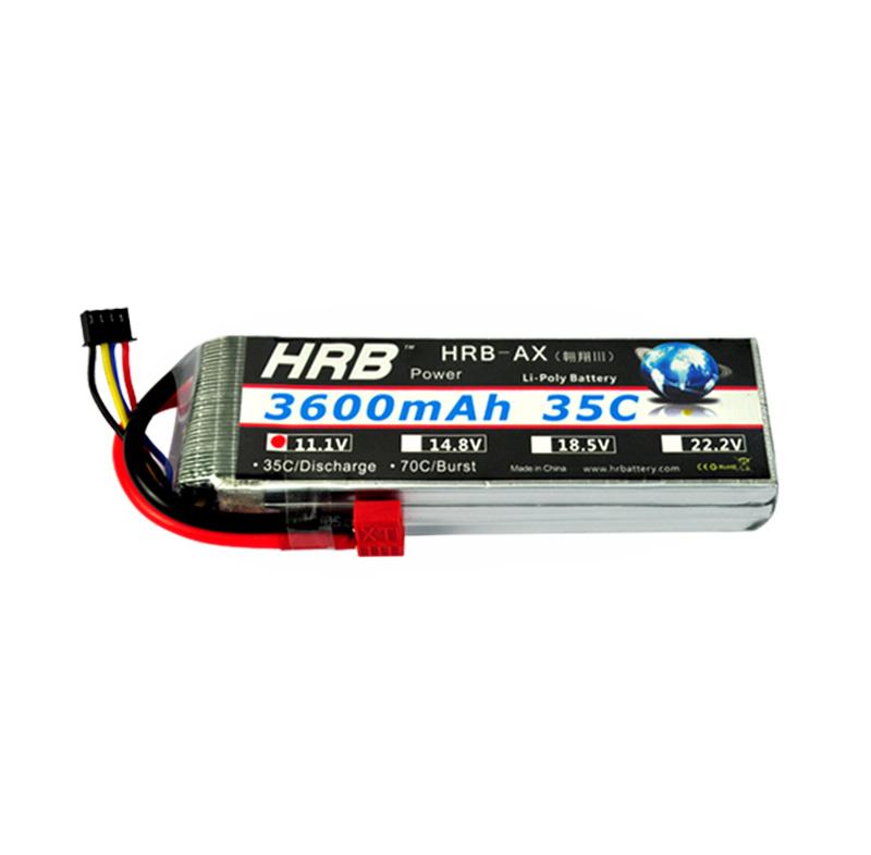 HRB Lipo Battery 11.1V 3600mAh 35C max 70C LiPo AEG Airsoft RC Battery F4R36 Remote Control Models Drop(China (Mainland))