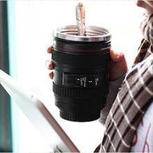 Camera Lens Stainless Steel Cup 24-105 Coffee Tea Travel Mug Thermos & Lens Lid(China (Mainland))