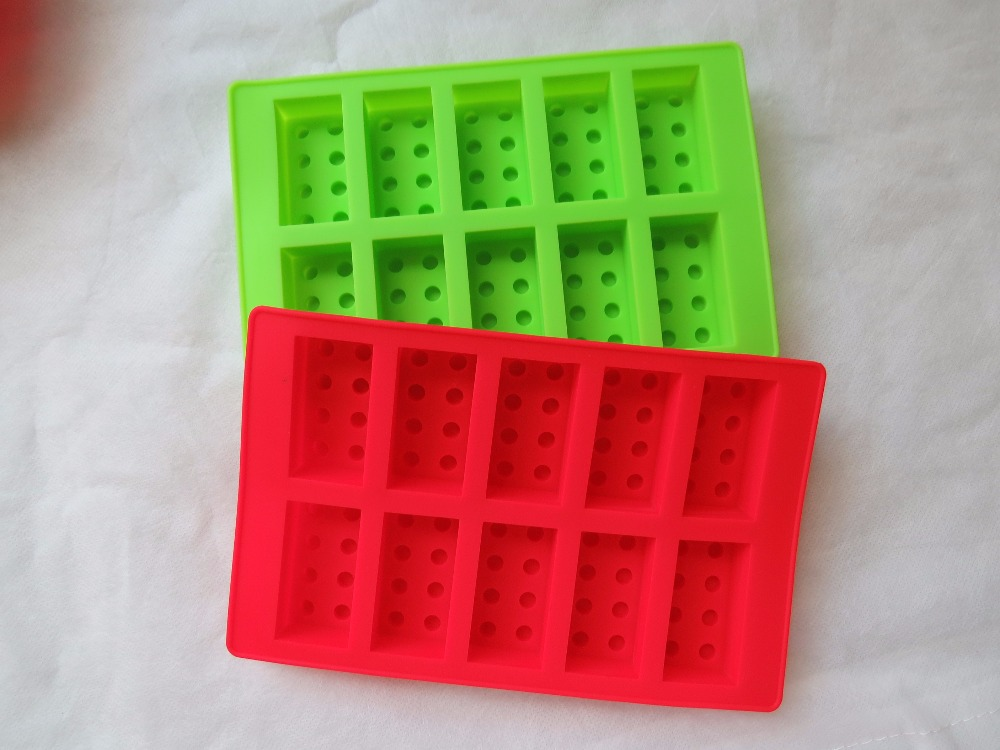 Hot Sale Silicone Lego Building Block Shape Ice Cream