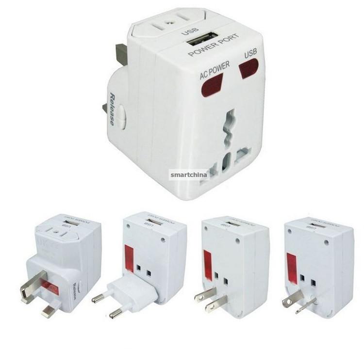 Universal Travel Adapter USB Conversion Socket Multifunctional Conversion Plug Power Converters Free Shipping(China (Mainland))