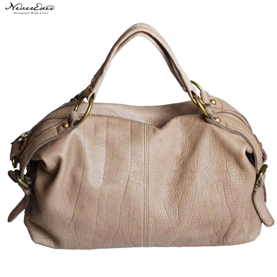 Christmas Black Friday Casual Cowhidewomen Messenger Bags Ladies Genuine Leather Women'S Shoulder Bag Grey Leather Handbags(China (Mainland))