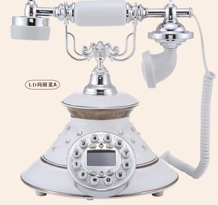 pop phone Vintage retro home landline phone wireless Bluetooth earpiece European antique telephone Home Decoration for iphone(China (Mainland))
