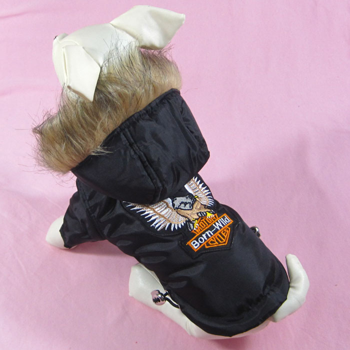 2015 Fashion Pet Autumn and Winter Clothes Small Dogs Thick Warm Coat Coll Eagle Printed Clothes for dogs 1PCS/LOT(China (Mainland))