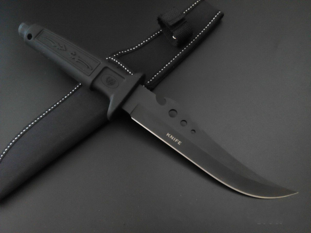 Buy 2016  Straight Fixed Blade Tactical Hunting Knife,7Cr13 Blade Outdoor Survial Camping Rescue Knives cheap