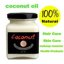 Natural cold pressed virgin coconut oil Skin care,hair care,makeup remover,protect teeth essential oil Natural Health Products(China (Mainland))