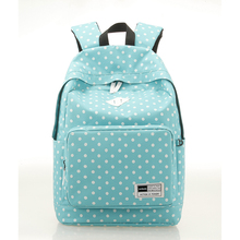 Buy Sunborl Women Canvas Backpack Pretty Style Dot Schoolbag Women Bag Pack College Teenager Japanese School Backpack Feminine for $17.90 in AliExpress store