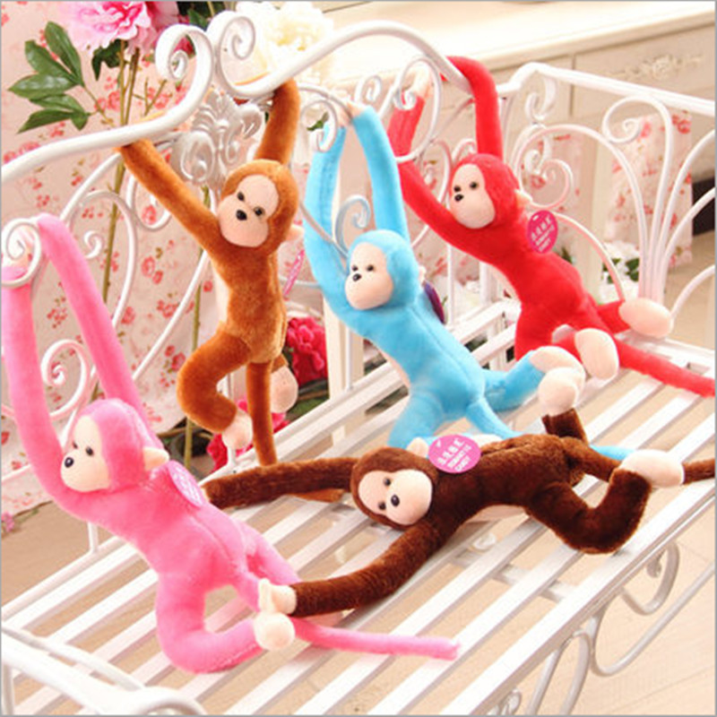 1pcs 44cm Lovely Curtains Baby Sleeping Appease Animal Long Arm Tail Monkey Stuffed Doll Plush Toys Birthday Christmas Gifts(China (Mainland))