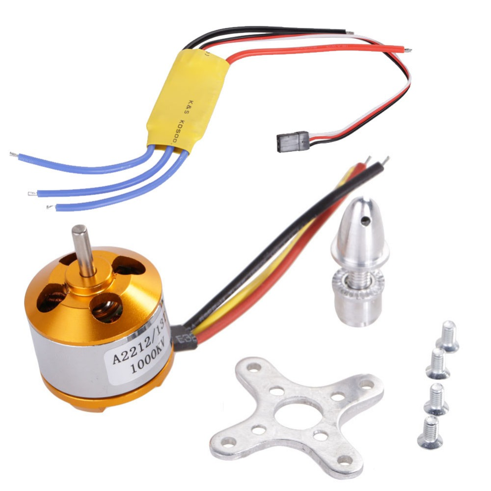 A2212 1000KV Brushless Motor + 30A ESC Speed Controller Set for RC Aircraft