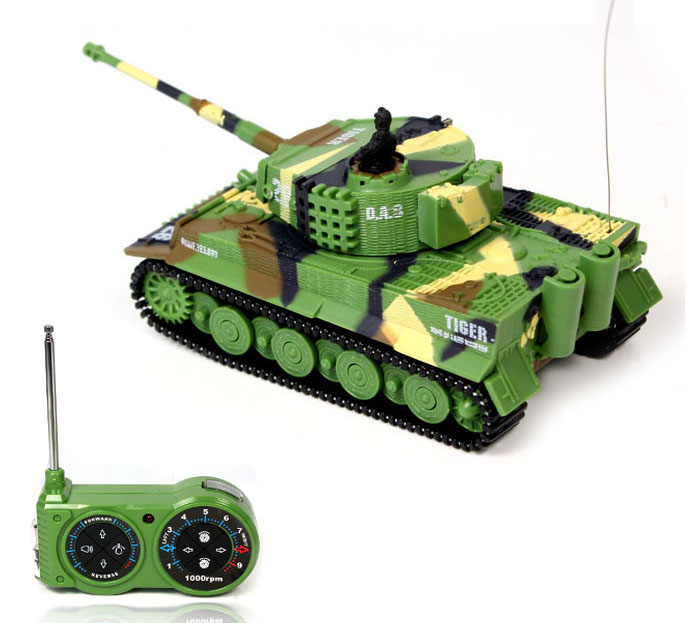 2016 New Promotion! 1:72 Classic R/C Radio Remote Control Tiger RC Tank Model For Children Gifts Free Shipping without box pack(China (Mainland))