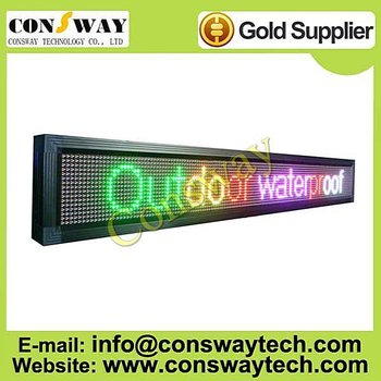 "FedEx FREE shipping, full color outdoor RGB led screen, video sign and size 9.4""*66.1"""
