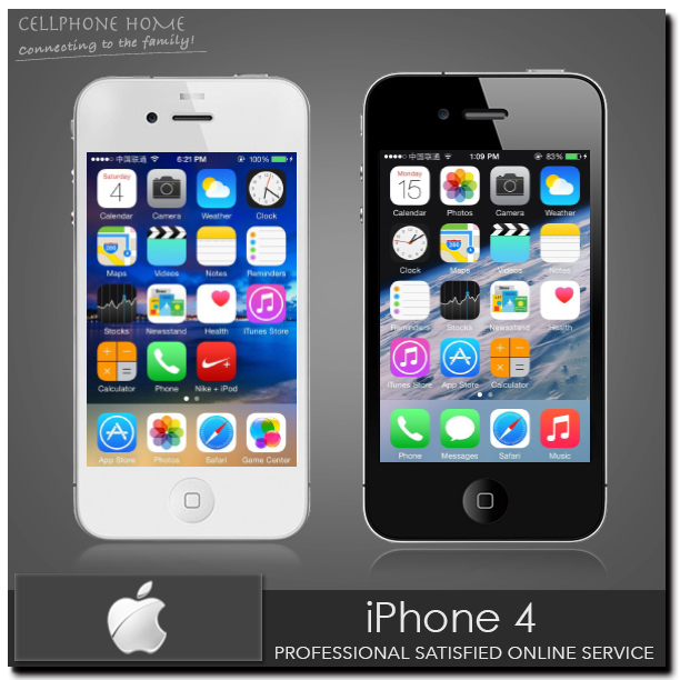 iPhone4 Original Apple iPhone 4 Unlocked 8GB 16GB 32GB Storage 5.0MP 3.5 inch A4 ios 7 Smartphone Black White Used Telephone(China (Mainland))