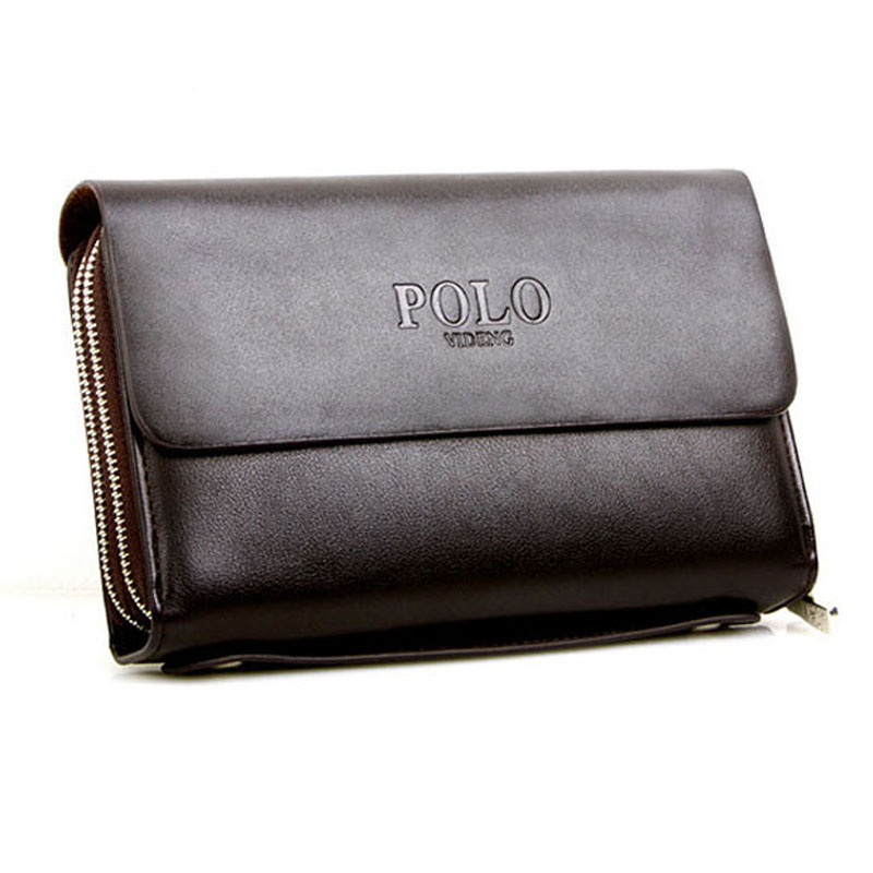 Nice Men's handbags high quality Genuine leather soft leather Men's clutches famous brand oversized men's wallets Free shipping(China (Mainland))