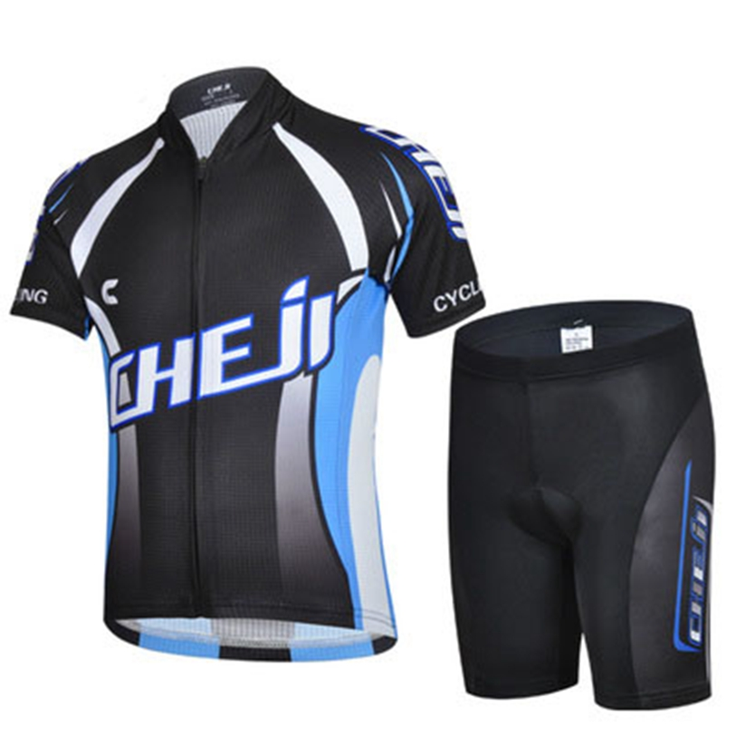 2016 CHEJI Children Bike Jersey or Cycling Shorts Pro Cycling Clothing Black Kids Bicycle Shorts Boys mtb Shirts Cyc Top(China (Mainland))