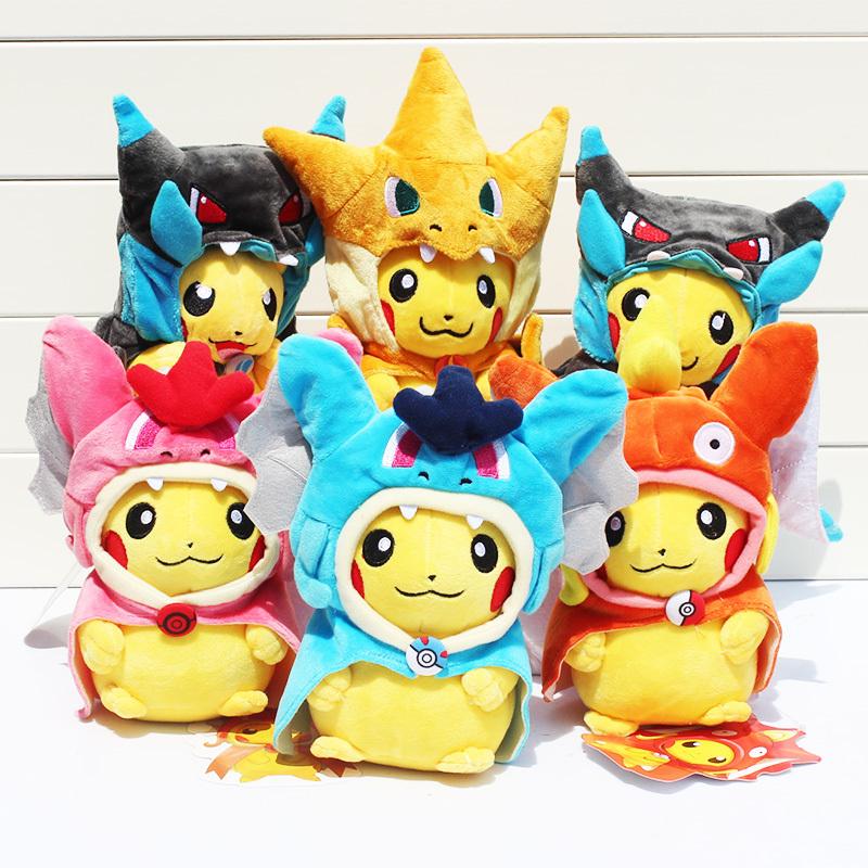 7pcs/lot Pokemon Mega XY Pikachu Charizard Magikarp Brinquedo Plush Toys Stuffed Doll With Tag 21CM Free Shipping<br><br>Aliexpress