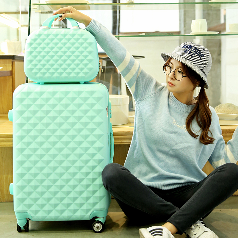 24inches luggage sets two piece female universal wheels trolley luggage for hotsale