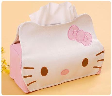 Length 23CMPU Hello KITTY Winnie the Pooh Cute Home Car Tissue Case Box Container Towel Napkin Papers BAG Holder BOX Case Pouch(China (Mainland))