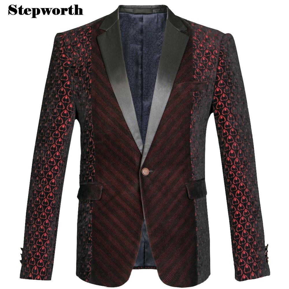 Men Print Business Bridegroom Single Button Wedding Blazer Plus Size M-3XL 2015 Brand Fashion Wine Red Slim Blazers Y1070Одежда и ак�е��уары<br><br><br>Aliexpress