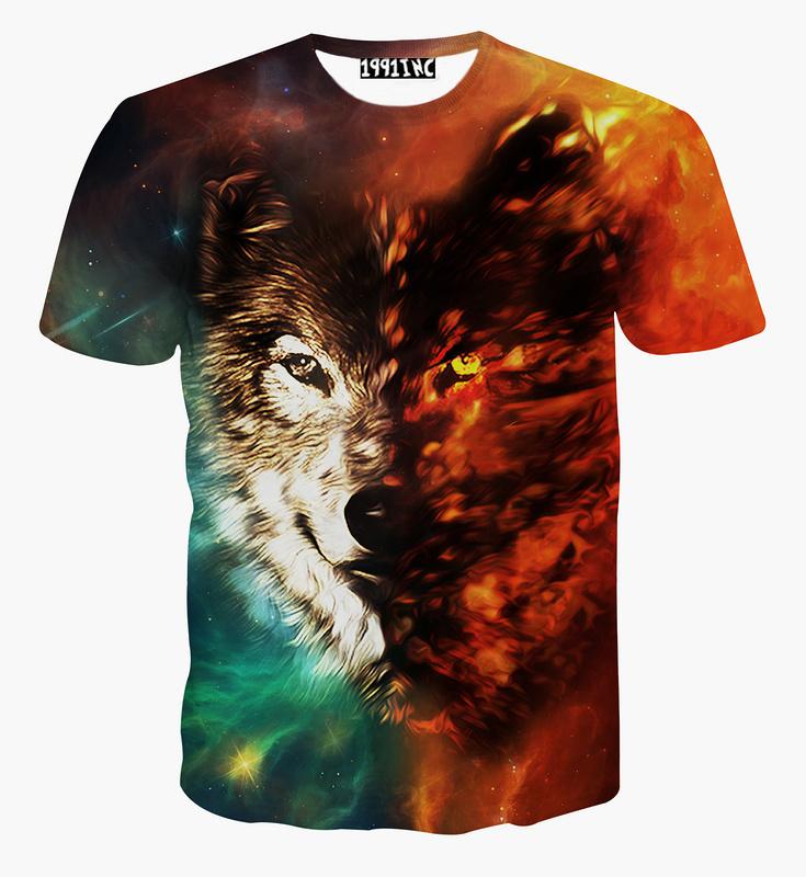 Vestidos Brand WOLF 3D print t shirt men harajuku hip tshirt women jaqueta summer style 3d print men tops men t shirt blusas(China (Mainland))