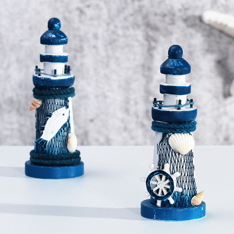 Mediterranean Style Lighthouse Resin Crafts Model Ornament Craft Gift Home Decoration Accessories Miniature(China (Mainland))
