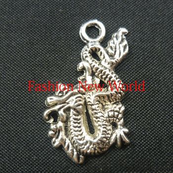 New Promotion 290pcs Chinese dragon Charms Antique Silver Plated Pendant Jewelry Findings C0396