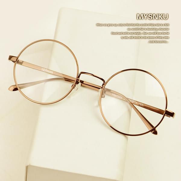 Eyeglass Frames Vintage Style : Retro Round Bronze Eye Glasses Vintage Nerd Glasses Style ...