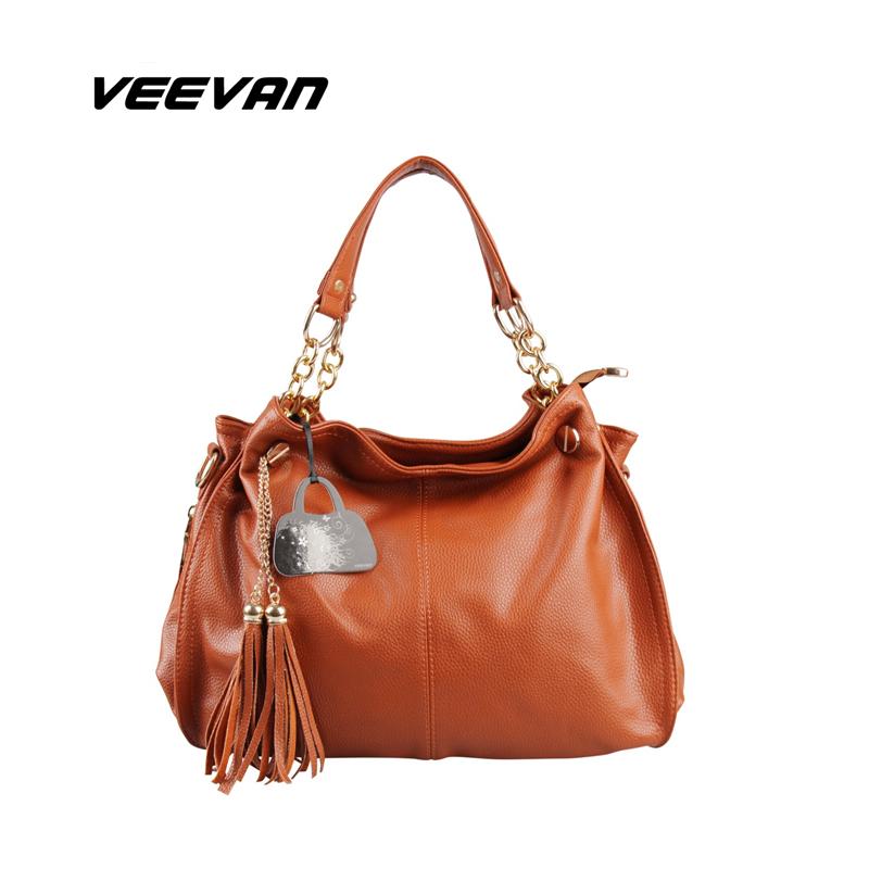 American Style Women Leather Handbag PU Leather Women Messenger Bags Fashion Tassel Ladies Tote Handbags Single Shoulder Bags(China (Mainland))