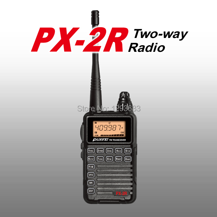 New Puxing PX-2R UHF400-470MHz TX&RX,VHF136-174MHz RX two way radio,PUXING PX Mini Walkie Talkie for kids ham hotel(China (Mainland))