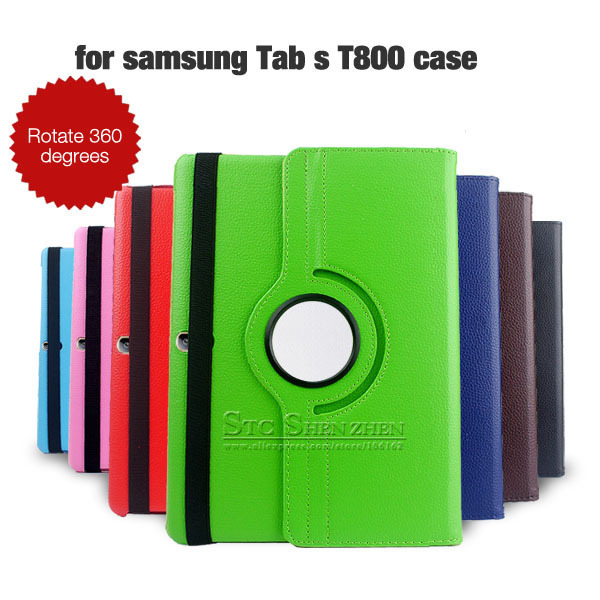 For Samsung Galaxy Tab S 10.5 Case,360 Rotaty Leather Flip Case Cover For Samsung Galaxy Tab S 10.5 T800 T805 Tablet Stand Cover<br>