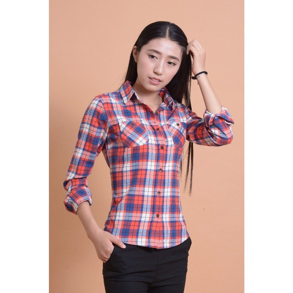 Women 39 s plaid shirts blouses peach chevron blouse Womens red plaid shirts blouses