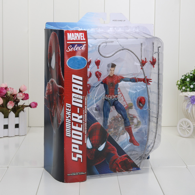 "7"" 18CM New Fashion Marvel The Amazing Spiderman PVC Action Figure Collection Model Toy Christmas Gifts For Kids(China (Mainland))"
