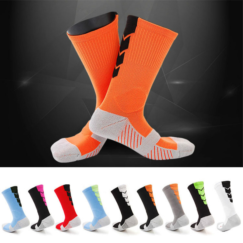 2017 top quality football socks soccer socks mens kids boys sports durable long adult basketball thickening sox medias de futbol(China (Mainland))