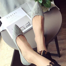Buy 2017 summer new fashion sexy lace ladies flats shoes womens pointed toe shallow flats shoes black slip casual loafers T033109 for $20.45 in AliExpress store