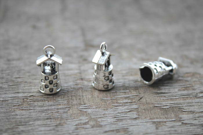 20pcs-Well charms, Antique Tibetan silver 3D Well charms Pendants connector 17x9x8mm(China (Mainland))