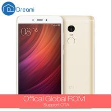 Dreami Original Xiaomi Redmi Note 4 16GB ROM 2GB RAM MTK Helio X20 Deca Core 5.5 Inch Fingerprint ID 4100mAh Mobile Phone Note4(Hong Kong)