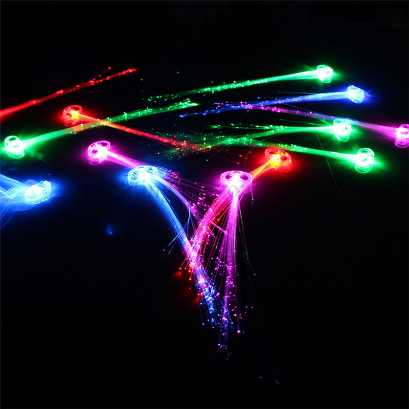 40CM Lighting LED Hair Braid Christmas Novelty Decoration Hair Extension By Optical Fiber Birthday Party Supplies 20G 1ZHH065(China (Mainland))