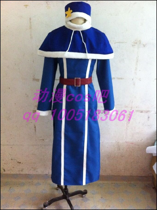 2016 Fairy Tail Juvia Lockser dress Cosplay Costume Full Set All Size Custom Made Anime Clothing+hatОдежда и ак�е��уары<br><br><br>Aliexpress