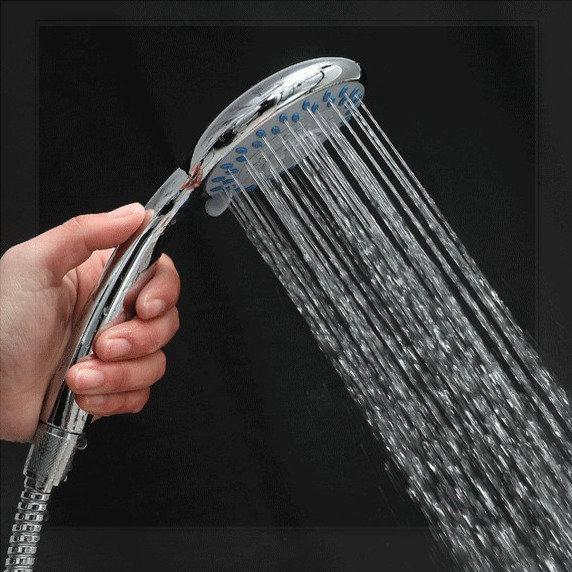 Abs plastic douche shower head shower power robinet for Robinet lavabo mural