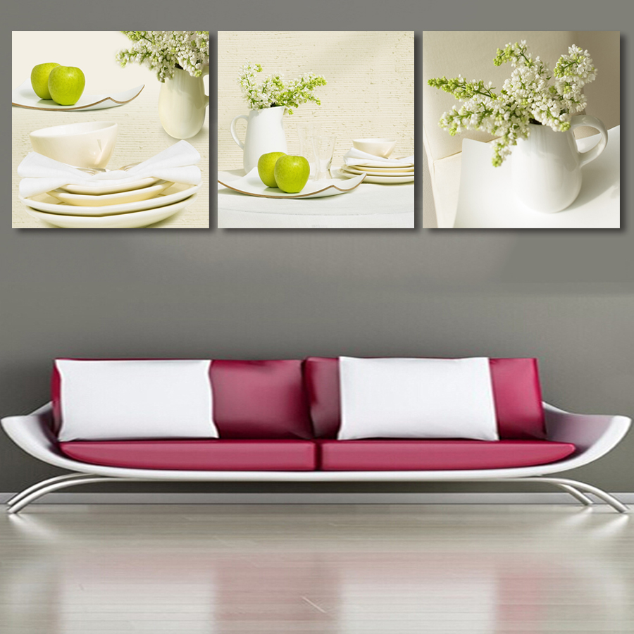 Modern 3 Plane Landscape Modular Pictures Painting On The Wall Home Decor Prints Painting Canvas Art Wedding Decor(Unframed)(China (Mainland))