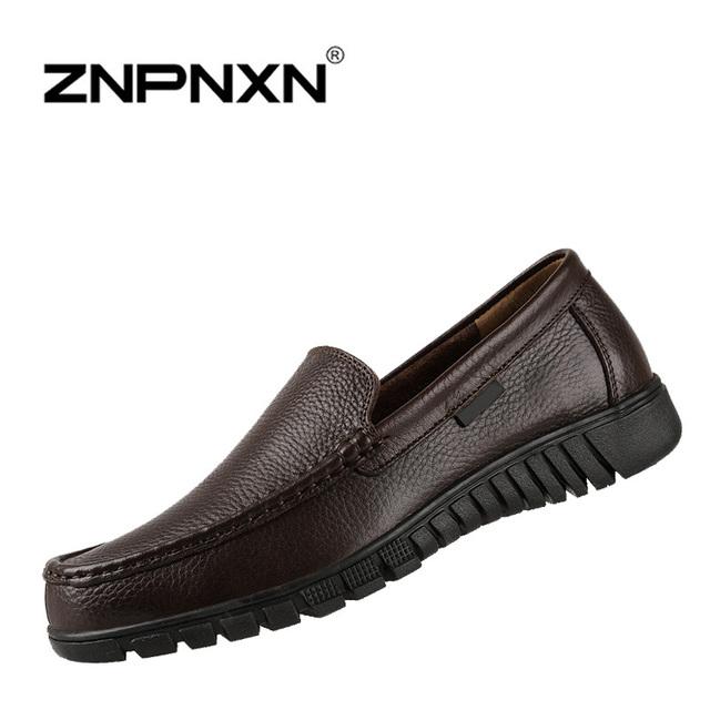 [ Znpnxnshoes ] новое 2015 натуральная кожа мужские мокасины черный браун туфли-men ...