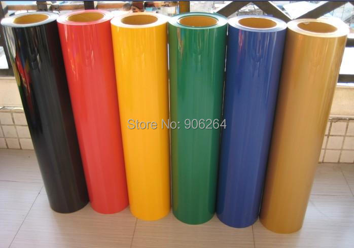 6 pieces 50cm*100cm of Clothing PU Heat Transfer Vinyl.high quality heat transfer film Cutter Press 27 colors can be choosed(China (Mainland))