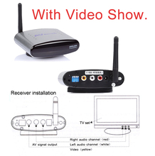 PAT-330 2.4 GHz Wireless AV TV Audio Video Remitente Transmisor Receptor de DVD DVR IPTV STB 150 M