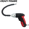 CRAZY POWER 4 8V Rechargeable Electric Screwdriver Cordless Sleeve Cordless Drill Electric Drill With Flexible Shaft