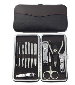 hot sale Case+1 set 12pcs Nail Clipper Kit Nail Care Set Pedicure Scissor Tweezer Knife Ear pick Utility Manicure Set Tools(China (Mainland))