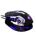 Wired V5 Silent USB Ergonomic 4000DPI Optical Gaming Mouse For PC Laptop Computer Metal Plate 4