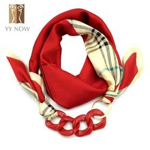YY NOW Women Scarf 4 Colors Silk Pendant Scarves Fashion Lady Casual Jewely Scarf 2016 New Brand Designer 110cm*110cm(China (Mainland))