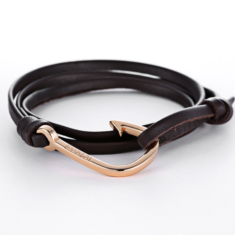 Mens leather anchor bracelet best bracelets for Best mens jewelry sites