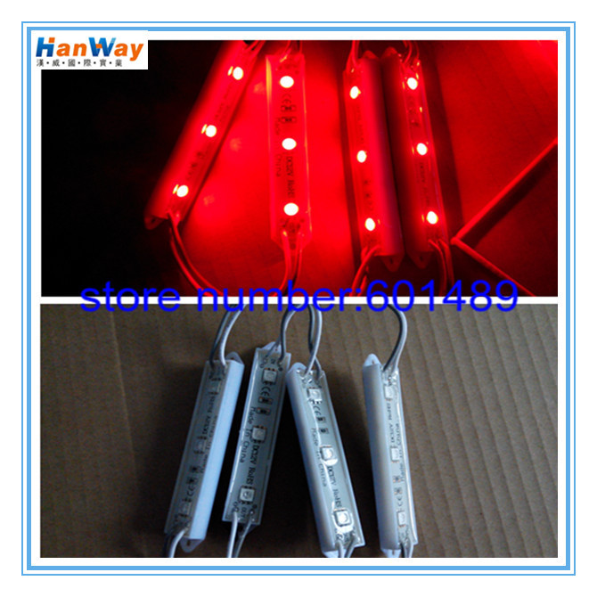 SMD5050 LED Modules ! 10 DC12V Super Bright Module Light 3leds/piece IP65-Waterproof 0.72W Advertising - Han Way International Industry Co., Ltd. store