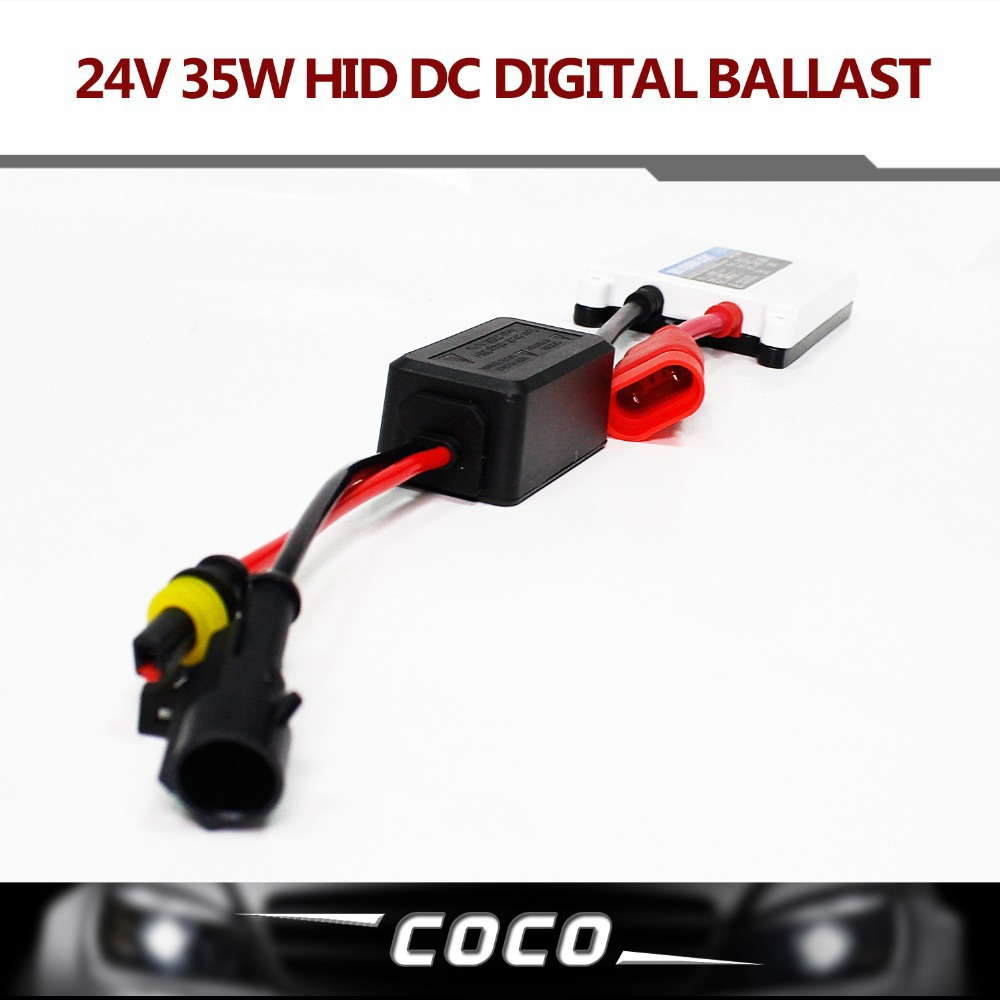 TOP Quality 1pc DC 24V 35W HID slim digital xenon ballast hid ballast car ballast Replacement