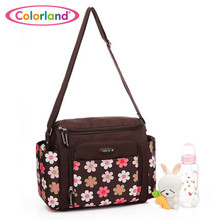 Large capacity flower printing waterproof Nappy bag maternity Nursing baby bag Mothers insulating shoulder bag CB205