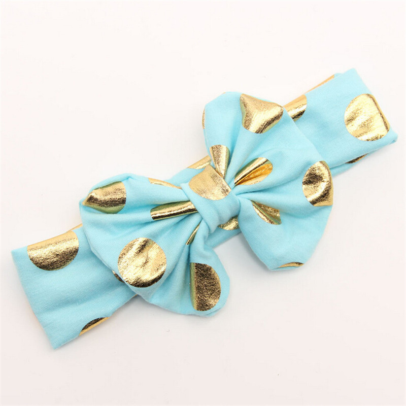 lovely Baby Headband Messy Gold Bow Baby Head wraps Big Bow Baby Headband Head Wrap Newborn Infant Photo Prop Hair Accessories(China (Mainland))